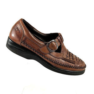 Dr Scholl's Brown Leather Loafers Size 7